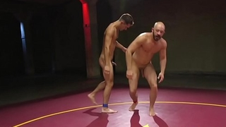 Wrestling stud assfucked before deepthroating