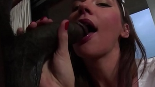 Elegant euro beauty assfucked by swart dong