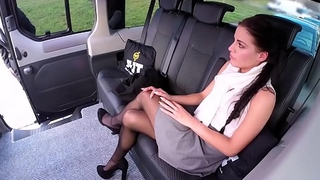 FUCKED IN TRAFFIC - Czech babe Eveline Dellai in hot revenge sex in the car