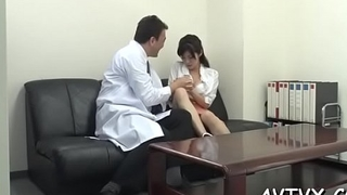 Enjoyable oriental casts a lusty spell with her adept blowjob