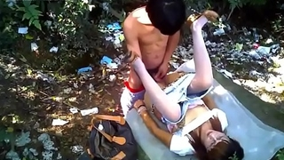 Village Housewife get Creampie in Outdoor Scandal Homemade