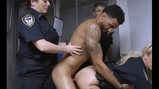 Three White Cops Taking On Black Suspects Dick Together In Uniform