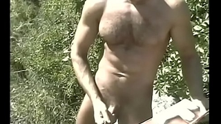 Hot big dick gay dudes from Hungary love to whip their fat rods outdoors