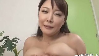 Slutty mom with fat love button and dildo