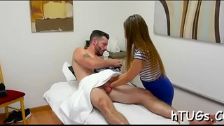 Sexy asian masseuse fucks client