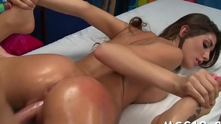 Hot brunette hair impaled on cock