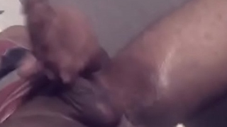 Spitting more than oiled indian fat dick and masturbating and cummingahuge cum load
