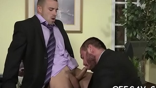 Intensive office homosexual anal