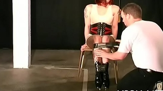 Breasty female sexy bondage