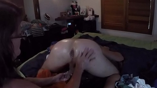 Deep anal fist shacking up and almost 2 hands in