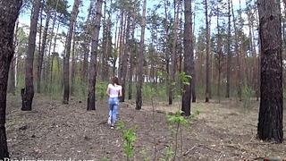 Public outdoor fuck  for fit teen in the forest. Mia Bandini.