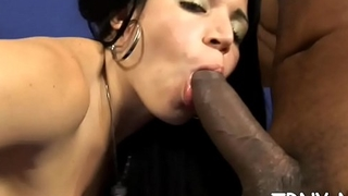 Lady-man gets a raging fucker &amp_ is gagged and fucked
