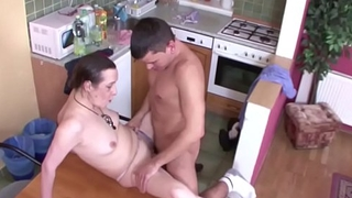 Young Guy Seduce Grandma to Mad about when Mom away
