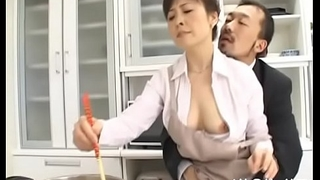 Ramrod hungry japanese mature sucks a heavy one-eyed monster passionately