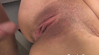 Petite Chica with Sexy toosh &amp_ with mostly tight close-shaven cooch sucks love stick