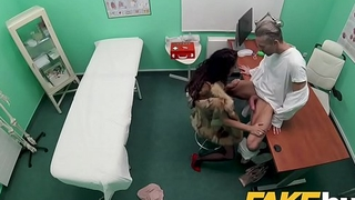 Measure Hospital Sexy fur clad patient wants good having it away from big dick doctor
