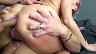 Colored Hair Czech Pornstar Brittany Bardot Into Triumvirate Ass Giving with Double Anal Action